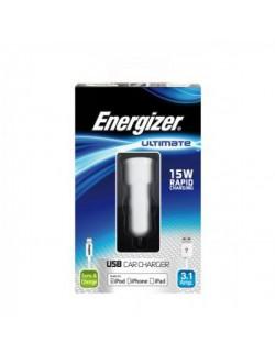 Incarcator auto lightning Energizer 3A 2USB alb