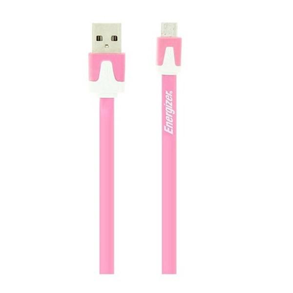 Accesoriu Energizer cablu MicroUSB plat roz