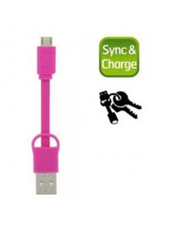 Energizer cablu date MicroUSB 20 cm roz