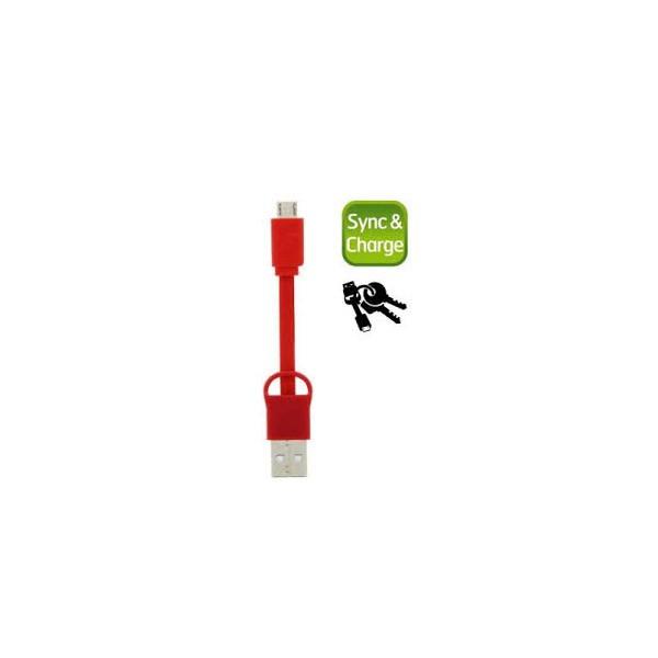 Energizer cablu date MicroUSB 20 cm rosu