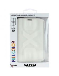 Accesoriu husa protectie Oxo tip carte alba Samsung S5