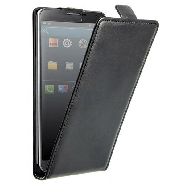 Accesoriu Oxo carcasa cu capac piele neagra Samsung Note III