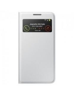 Husa Samsung Galaxy S IV S-view alba