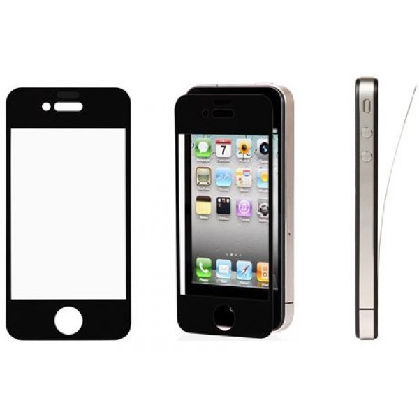 Folie protectie Apple Iphone 4 Neagra