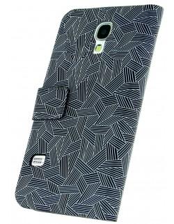 Husa Oxo Samsung S4 tip carte negru cu alb