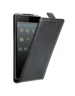 Carcasa Oxo cu capac piele neagra Sony Xperia Z1