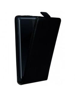 Accesoriu Oxo carcasa cu capac piele neagra Sony E1