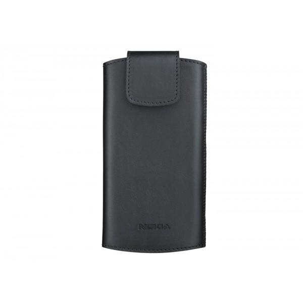 husa piele neagra tip Pouch Nokia