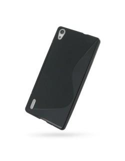 Carcasa silicon neagra Huawei Ascend P7