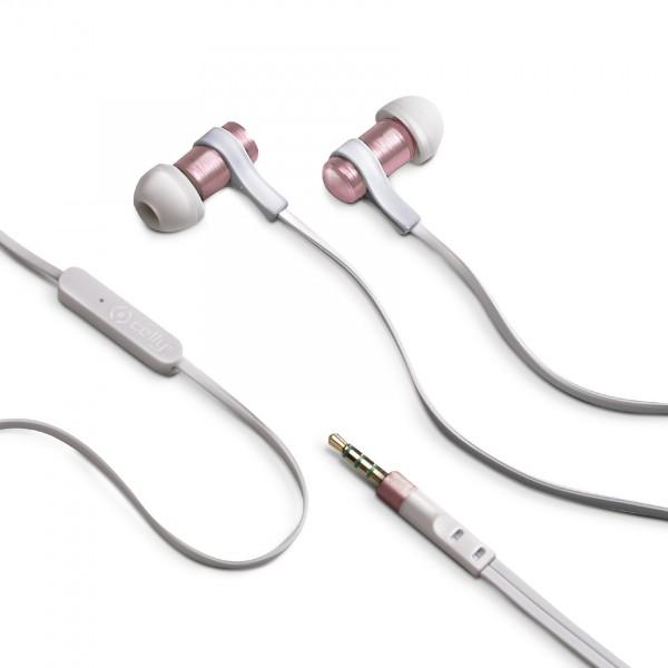 Celly casti stereo 3.5 mm Roz Auriu