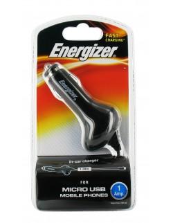 Energizer incarcator auto 1A negru