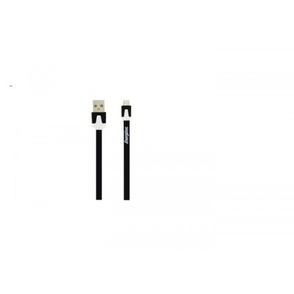 Energizer cablu microUSB plat negru