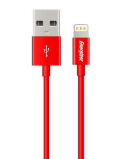 Energizer Cablu Lightning , Rosu , 1.2m