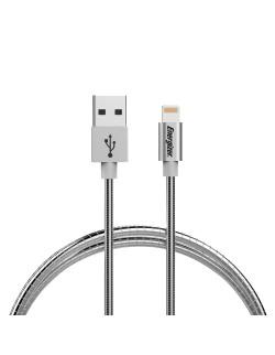 Energizer Cablu Lightning din Otel, indestructibil, 1.2m, Alb