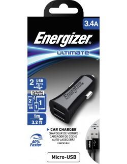 Energizer Incarcator auto MicroUSB 3.4A Negru