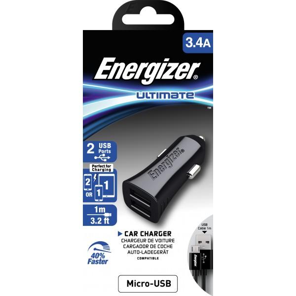 Incarcator auto Energizer 3.4A negru