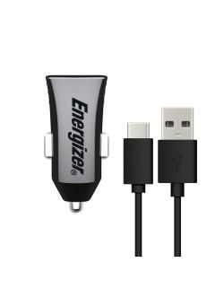 Energizer Incarcator auto 2 USB type C Negru