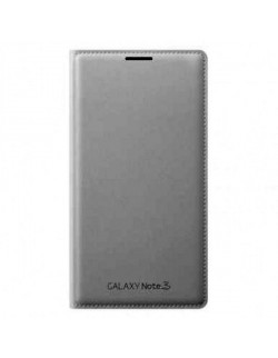 Samsung protectie tip carte piele alba Note III