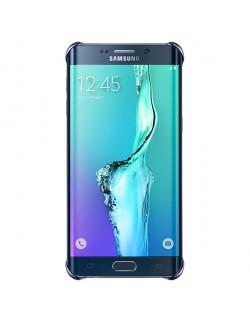 Husa spate Samsung Galaxy S6 Edge Plus Transparent cu rama albastra