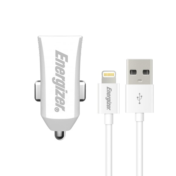Energizer Incarcator auto 2,4 A Iphone 5S/6S alb
