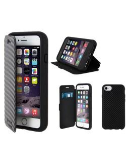 Carcasa tip carte carbon antisoc neagra (droptest 3m)iPhone 6/7/8