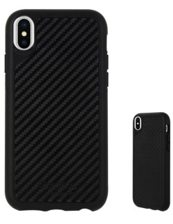 Carcasa spate carbon antisoc neagra (droptest 3m) iPhone X