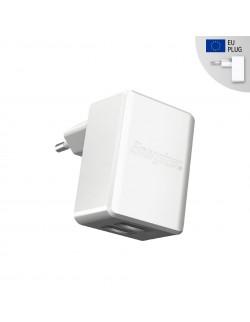 Energizer Adaptor Retea, 3.4A, 2USB, Alb