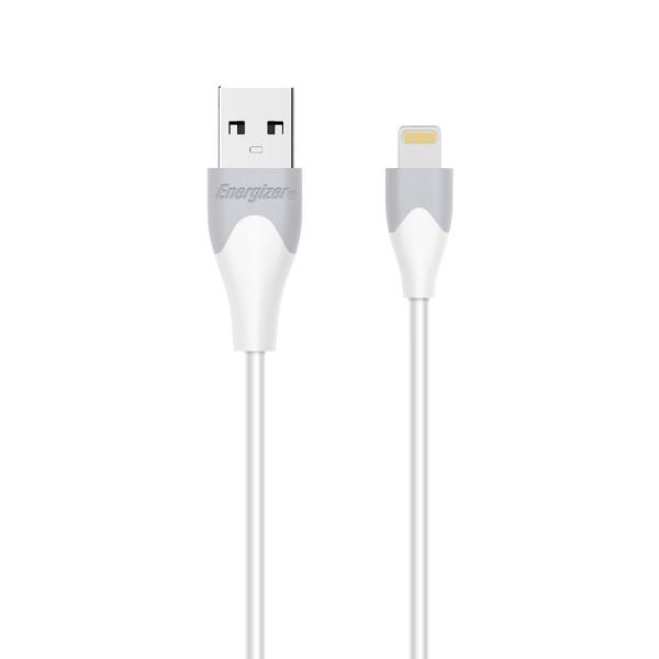 Energizer Cablu Date Lightning, Bicolor, 1.2m, Alb