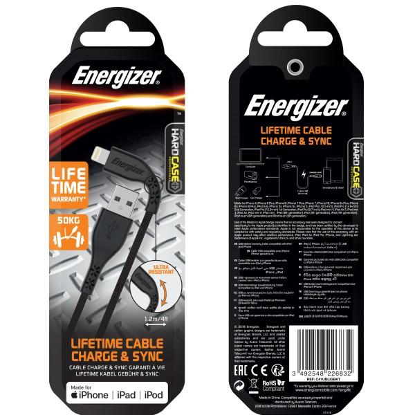 Cablu Lifetime Warranty Lightning, 1.2M Negru