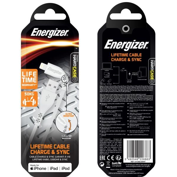 Cablu Lifetime Warranty Lightning, 1.2M Alb