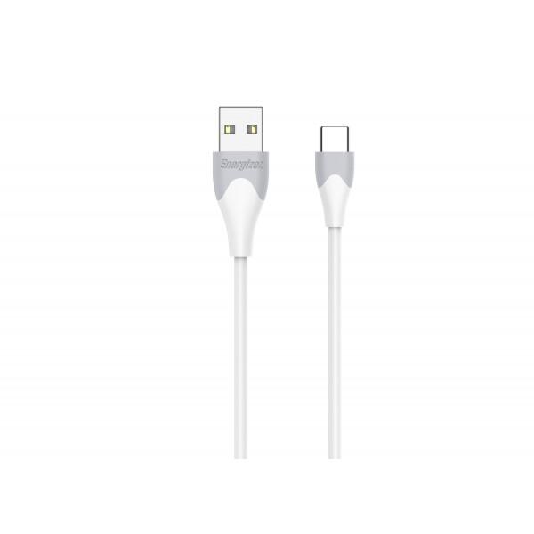 Cablu TypeC Bicolor 1.2m Alb
