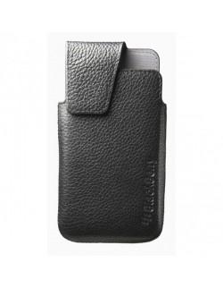 Husa piele neagra cu siguranta Blackberry Z10