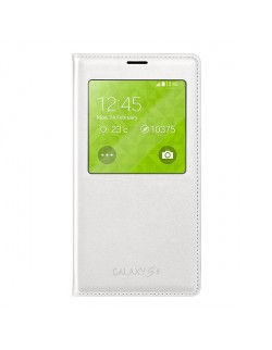 Accesoriu Samsung protectie tip carte S-View alba Galaxy S5